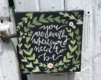 Custom Quote Vine Canvas