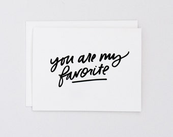 You're My Favorite, Card for Mom, Motherhood, Mother's Day, Friendship