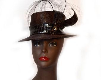 B Michael Hat 90s Straw Hat NWT