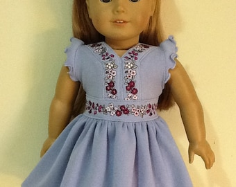 """Gymboree Romantic Garden Dress Reconstructed to fit 18"""" American Girl Doll"""