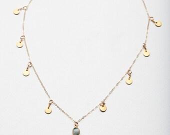 NILA NECKLACE • Blue Sapphire Necklace