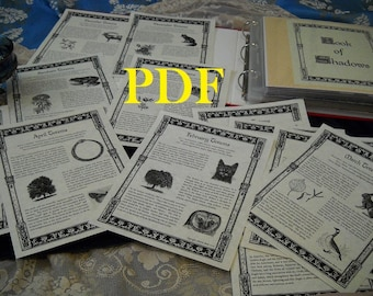AFW Totems BOS Sheets PDF specialty pack -- 14 sheets -- Book of Shadows pages