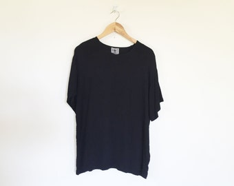 One Way Two Boxy Black Rayon Crepe Top