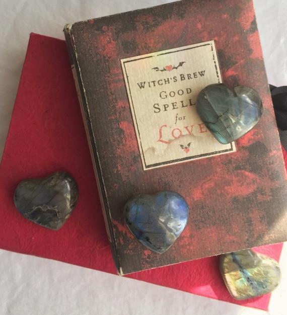 Small Labradorite Hearts, Labradorite Crystal, Heart Shaped Labradorite, Polished Labradorite, Crystal Heart, Mini Heart Shaped Stone