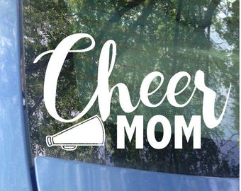 Cheer Mom Decal - Sports Mom -  Cheerleader Mom Window Decal - Cheerleader Mom Car Decal - Sports Mom Decal - Sports Decal - Laptop Sticker