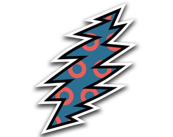 Phish Sticker, Fishman Donuts, Lightning bolt, Fishman Sticker, Phish Art, Phish Print