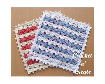 Crochet Square Doily Crochet Pattern (DOWNLOAD) CNC112