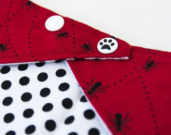 "NEW! Bib/scarf against the baby drool ""Ants"" - red / black and white. Unisex. -Limited quantities!"