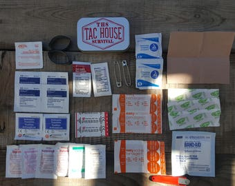 Emergency Bug Out Bag EDC First Aid Survival Med Kit 33 piece FREE SHIPPING