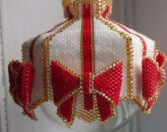 Wrap it Up beaded ornament cover e-pattern