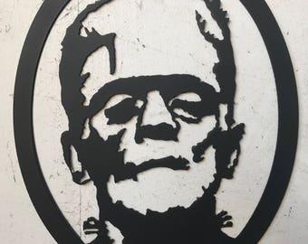 Frankenstein metal art