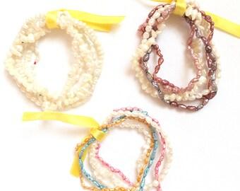 Fresh water pearl bracelets - batch of 5 pieces