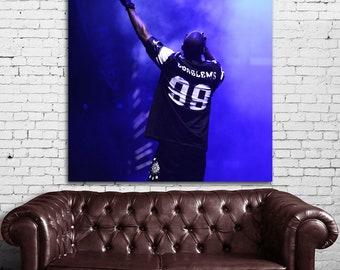 09 Poster Jay Z Canvas & Stretcher Bars Frame