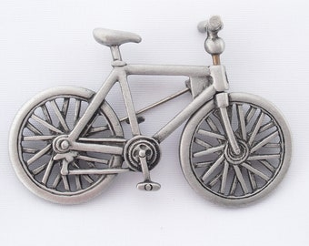 JJ Bicycle Brooch, Vintage Jonette Movable Bike Pin, Jewelry for Biking Cycling Enthusiasts