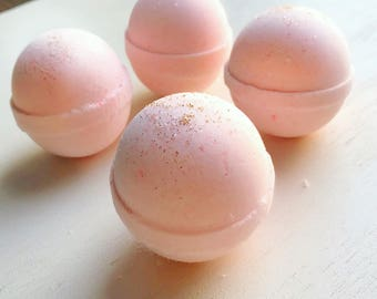 Blush Champagne Bath Bombs- bath bombs-mini bath bomb-bath and body- spa and relaxation- blush bath bombs- gifts for her- gifts for wife