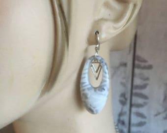 paire de boucles d'oreilles - corne -  nouvelle collection