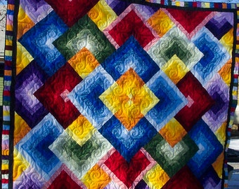Flying Colors Queen Sized Quilt
