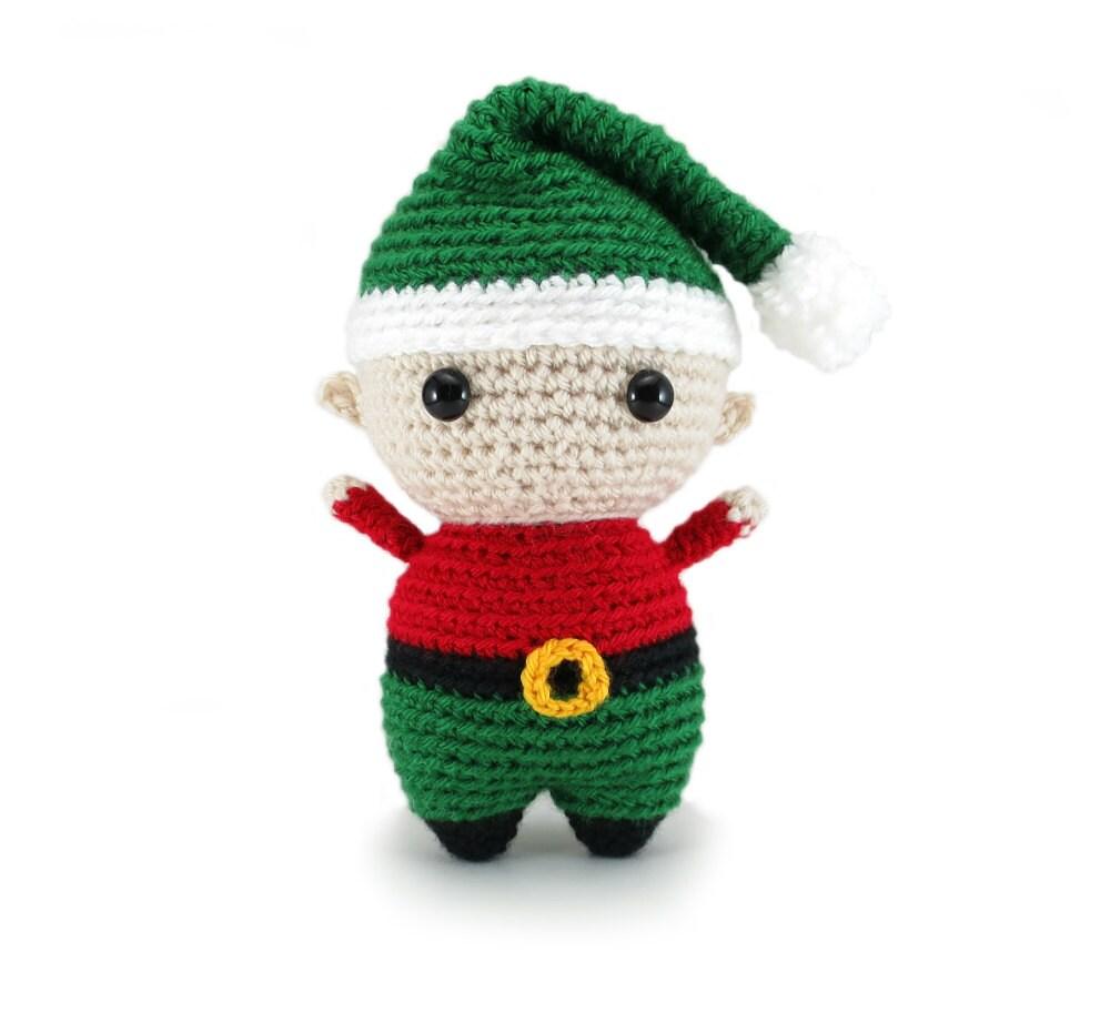 Elf amigurumi pattern - Christmas crochet pattern, elf crochet ...