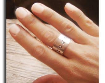 Fancy customizable aluminum ring
