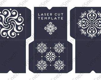 Laser cut Envelope Template set. Envelopes for Wedding invitation, Gift, Letter, etc. EPS SVG DXF cutting files, Silhouette Cameo, Cricut