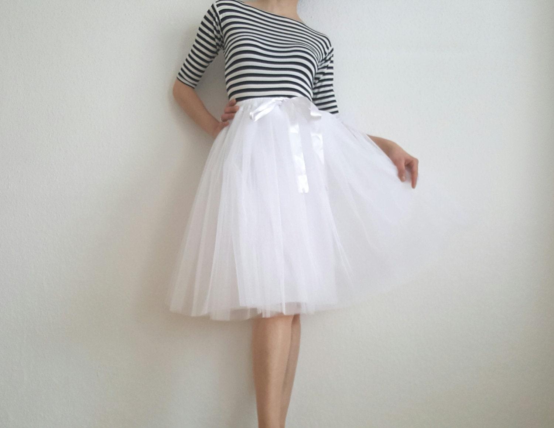 Tulle petticoat Light version white 60 cm