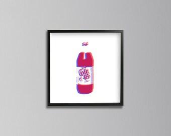 Colt 45: Unhealthy Life Pop Art Series | Digital Print Download | Wall Art