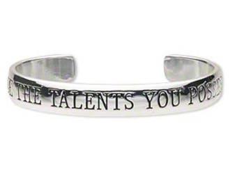 Use the Talents You Possess Cuff Bracelet