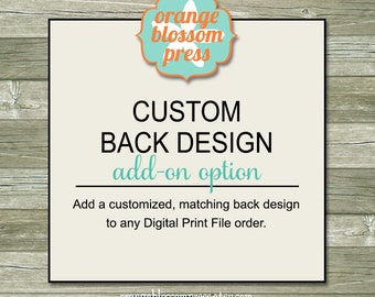 Custom Back Print File Add-On Option