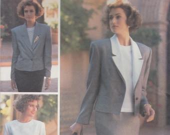 Evan Picone Vintage Suit Pattern Butterick 3677 Sizes 12 14 16 Uncut