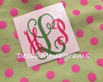Two Color Monogrammed Vinyl Decal