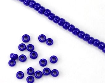 8/0 Opaque Royal Blue Seed Bead (40 gram) #JBP008