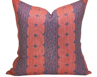 Fez pillow cover in Indigo/Raspberry