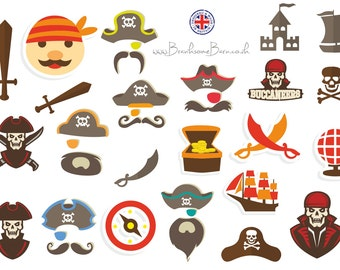 Pirate stickers, 23 stickers to shiver your timbers!