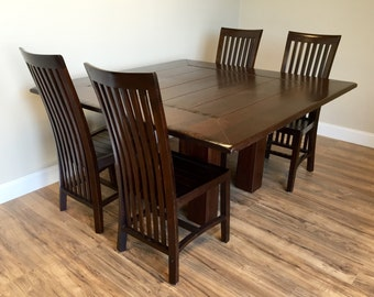 Square Dining Table   Dining Room Table And Chairs Set   Large Dining Table,  Solid