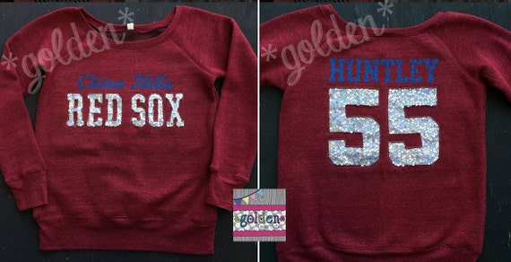 Personalized Team Fleece Long Sleeve Top, Baseball, Basketball, Football, Cheer, Mom Jersey, Sequin, Little League, Pop Warner, Cheer