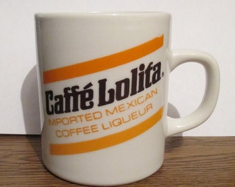 Caffe Lolita Coffee Cup Mug Imported Mexican Coffee Liqueur