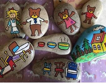 Goldilocks and the 3 bears story stones