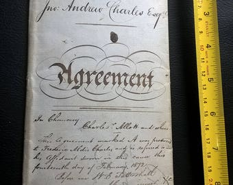 Kelham Island Sheffield 1867 Agreement Deed