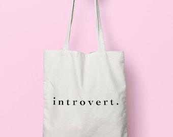 Introvert Tote Bag Long Handles TB1579