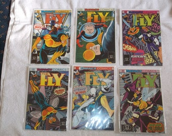 sci-fi comics-the fly-lot of 6-1990s-GD