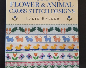 Counted Cross Stitch Book Hard cover 500  Flower & Animal Designs borders