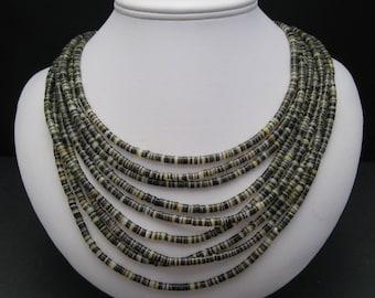 Shell Heishe Nine-Strand Necklace