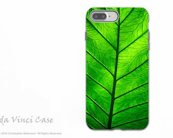 Tropical Green Leaf - Artistic Apple iPhone 7 PLUS - 8 PLUS Tough Case - Dual Layer Protection - Leaf of Knowledge