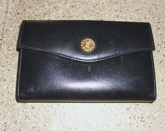 Rolfs Black Genuine Leather Women's Wallet Purse Clutch Multiple Compartments and Slots
