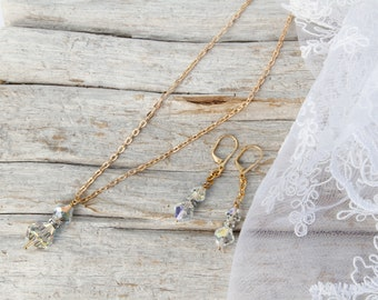 Timeless Swarovski Necklace And Earring Set