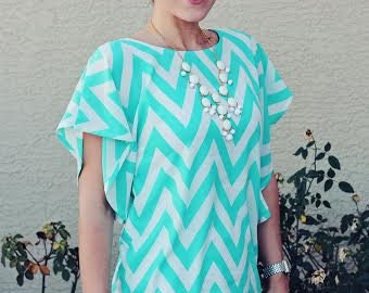 Lesley Flutter Top for Women Sewing PDF Pattern seamingly smitten, knit flutter top for women pdf sewing pattern instant download