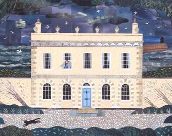 John Fowles Greeting Card, Writers Houses, Booklovers, Lyme Regis, Birthday, French Lieutenant, English Literature, Sea, Amanda White Design