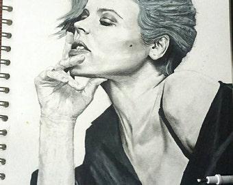 A4 Rachel McAdams drawing