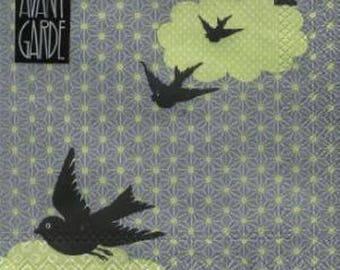389 birds in flight 1 lunch size paper towel