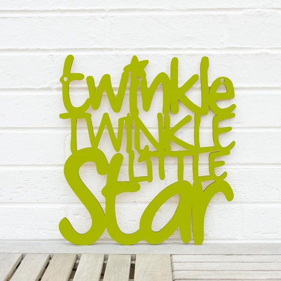 Christmas Nursery Quote Sign Baby Room Wall Art Twinkle